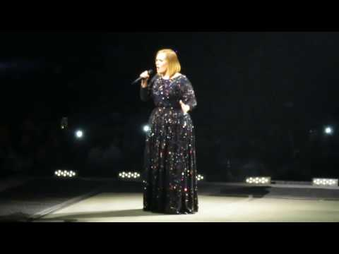 Opening Song - Adele Concert Live @ Houston Toyota Center 11/8/2016 Part 1