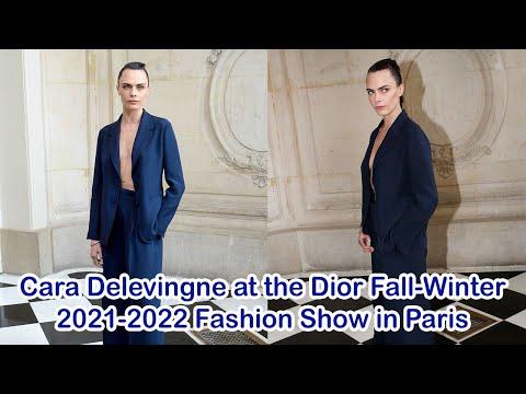 Cara Delevingne at the Dior Fall-Winter 2021-2022 Fashion Show in Paris