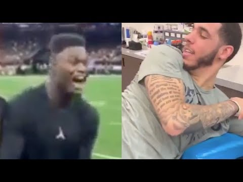 zion-williamson-&-lonzo-ball-exchange-jabs-as-the-new-teammates-partake-in-petty-wars