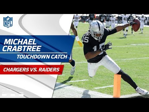 Michael Crabtree Catches Derek Carr's Pass & Long Jumps for a TD! | Chargers vs. Raiders | NFL Wk 6