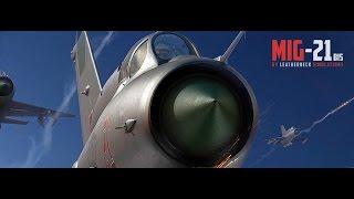DCS Mig-21bis Запуск двигателя, рулежка, взлет, навигация, посадка.