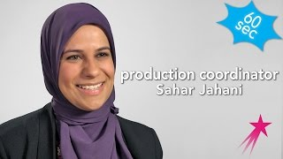 60 Seconds With a YouTube Production Coordinator: Sahar Jahani