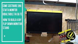 Gambar cover Come costruire una staffa monitor ribaltabile fai da te how to build diy foldup monitor stand/mount