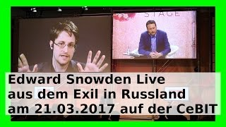 Edward Snowden live Interview auf der CeBIT 2017 am 21. März - Whistleblower WLBI