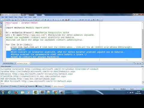 Python Mechanize Modülü ile Link Toplama