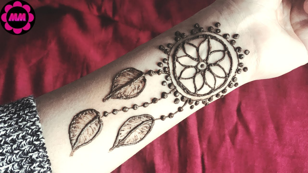 Dream Catcher Henna Tattoo Designs: Beautiful Dreamcatcher Mehendi