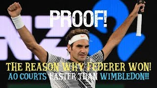 PROOF how Federer won 2017 AO ● Courts faster than Wimbledon!