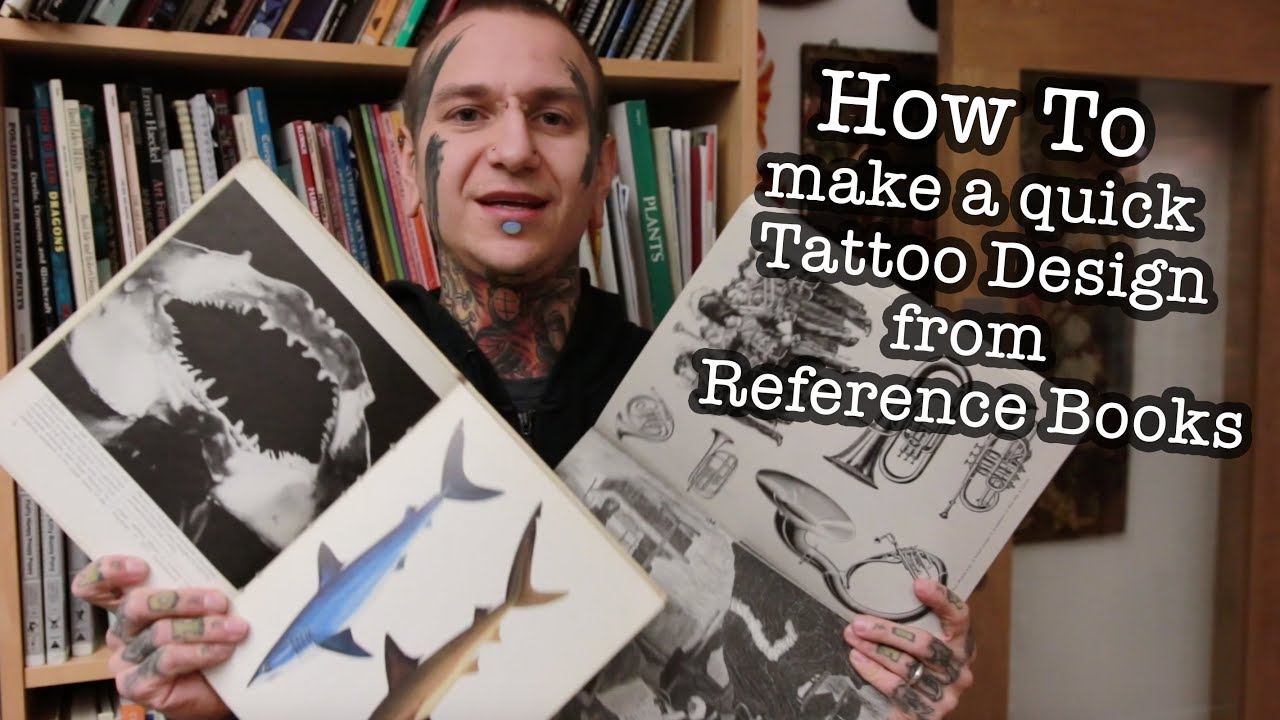 How to make a quick tattoo design from reference books for Tattoo reference books