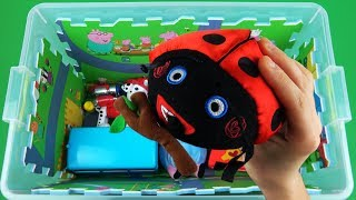 Learn characters, vehicles with Peppa Pig, Nemo, Paw Patrol, Ben & Holly - Toys in box for kids