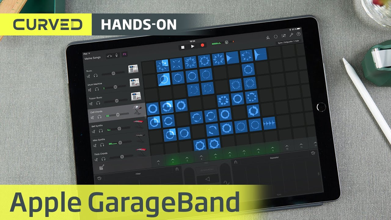 Garageband Auf Dem Ipad Pro In Der Live Video Session Deutsch