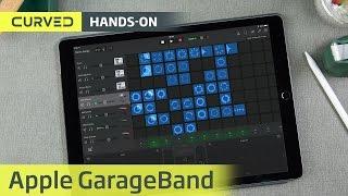 GarageBand auf dem iPad Pro in der Live-Video-Session   deutsch