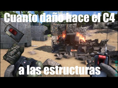 Cuanto daño hace el C4 a las estructuras | Ark Survival Evolved | Gameplay Español
