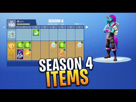 *NEW* SEASON 4 SKINS, PICKAXES AND GLIDER CONCEPT ART FOR THE BATTLE PASS - Fortnite: Battle Royale