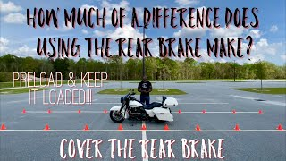 Will Using The Rear Brake Help You Make Those Turns From A Stop? Yes!