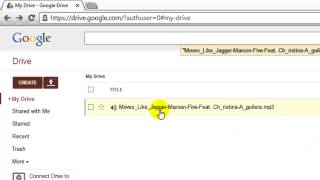 How to use google drive as music player?