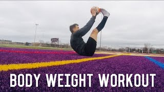 Body Weight Exercises For Footballers/Soccer Players | Strength Workout | Individual Training