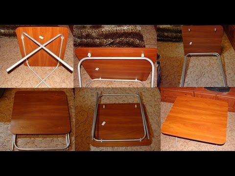 Складной стол из пвх труб своими руками