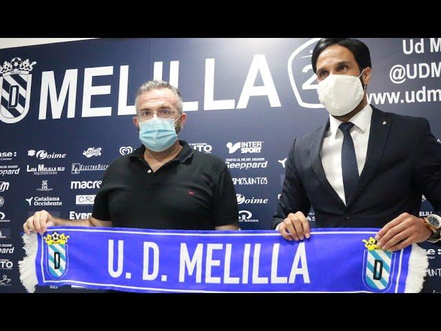 Presentación oficial Aloisio como entrenador de la U D Melilla