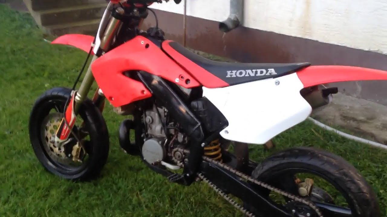 honda cr 250 1999 supermoto 2t youtube. Black Bedroom Furniture Sets. Home Design Ideas