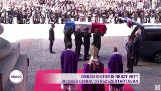 Orbán Viktor is részt vett Jacques Chirac gyászszertartásán