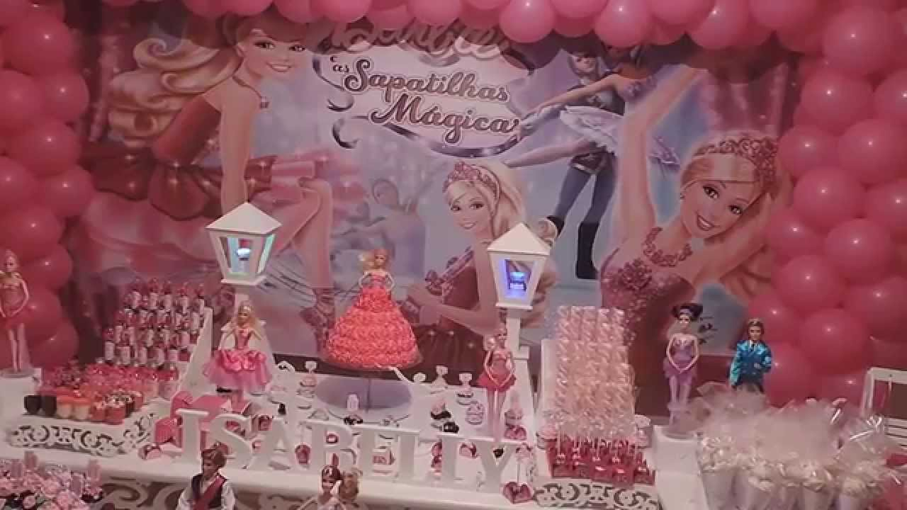 Decora??o Barbie e as sapatilhas magicas - YouTube