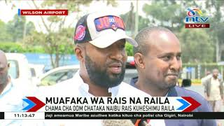"""Governor Joho """" Deputy President William Ruto, show us what you have."""""""