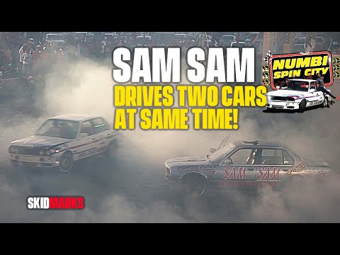 SAM SAM driving TWO CARS at the same time