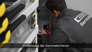 Niederspannungs-Schaltanlagen - Verbindung der Sammelschienen