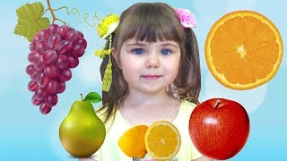 Learn Colors with Colorful Fruit Funny video for kids