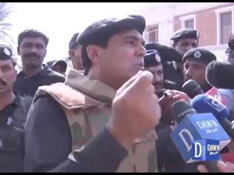 Karachi police chief Ameer Sheikh media talks
