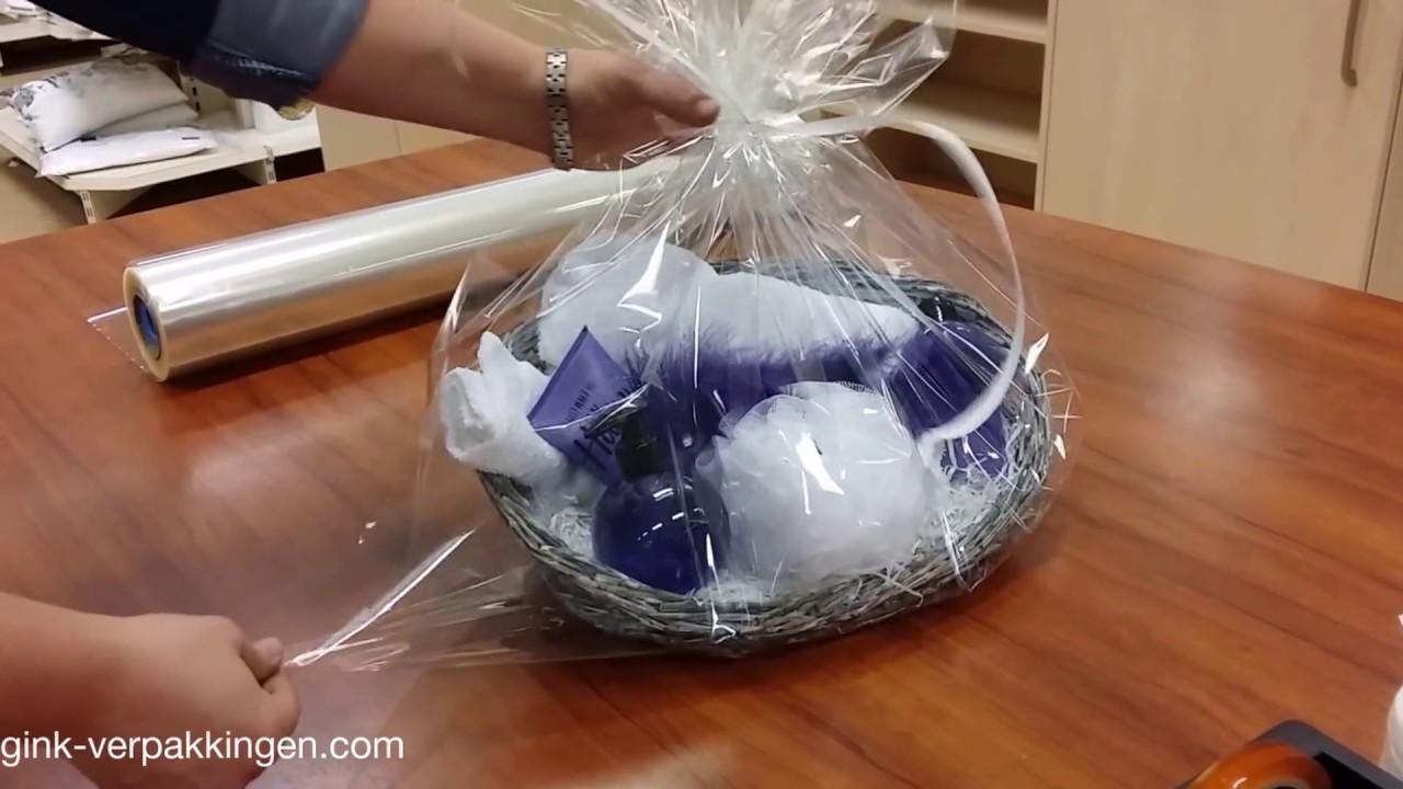 Hoe Pak Je Een Mand In Met Folie Eggink Verpakkingen