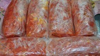 Замороженные помидоры. Заготовки на зиму