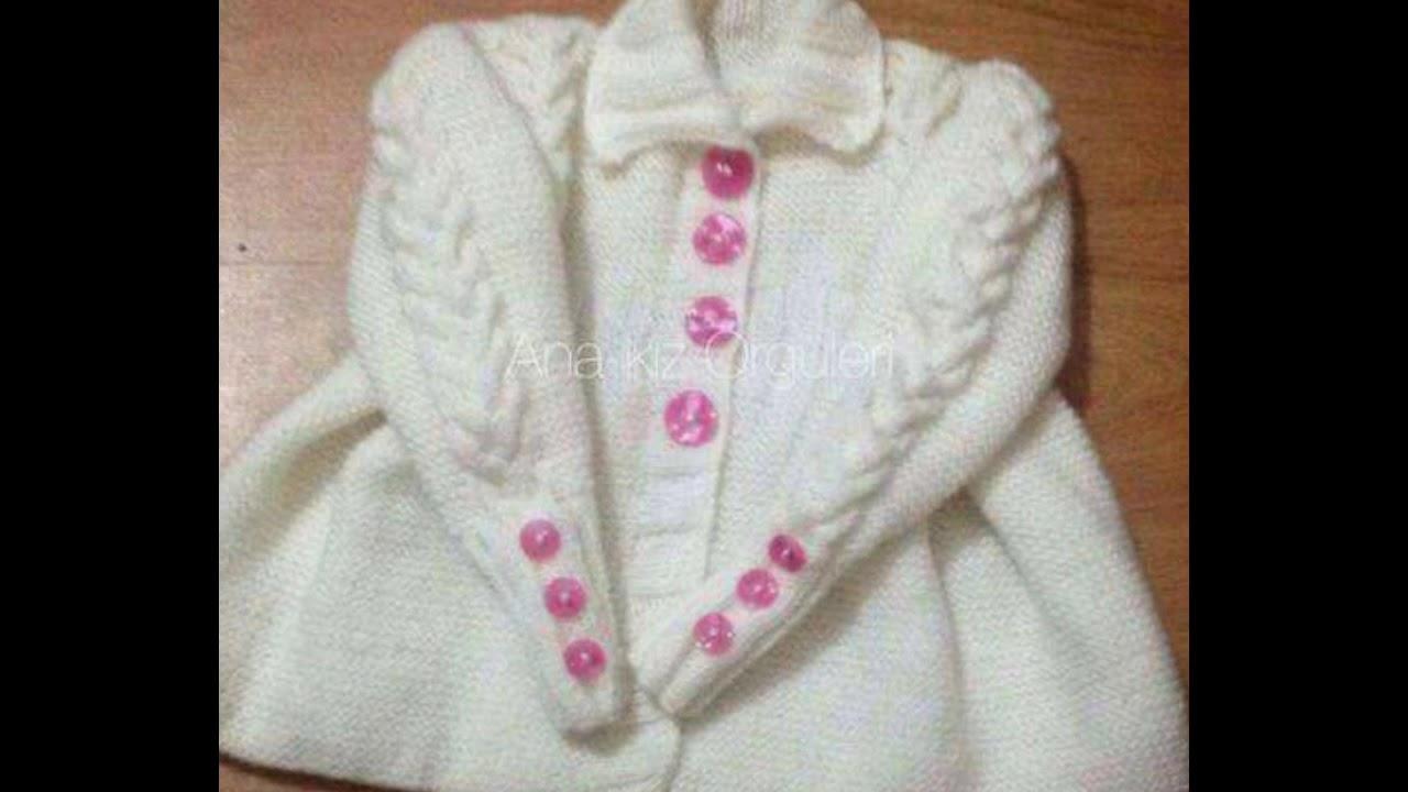 Tapados bebe tejidos en dos agujas y crochet - YouTube
