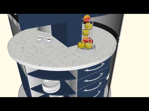 3D  original Circle Kitchen Office,  smart premium compact design