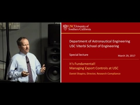 Export Control Regulations and ITAR - USC Astronautics
