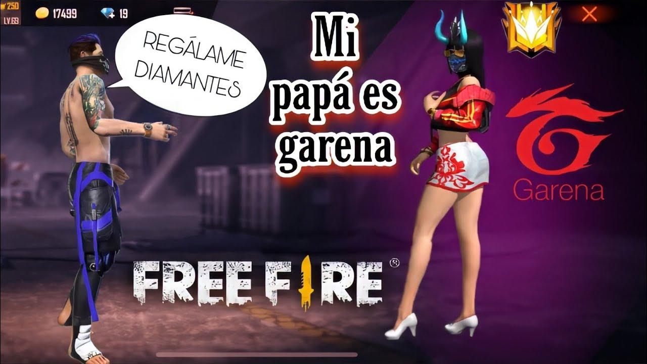 ME HAGO PASAR POR HIJA DE GARENA EN ESCUADRA RANDOM Y SE LA CREEN|FREE FIRE NENA FLOW