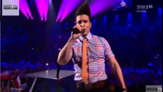Repeat youtube video HD Eurovision 2014 France Grand FInal: TWIN TWIN - Moustache ( LIVE )