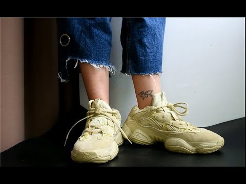 best sneakers 1f06a 083fc Review + On feet of adidas Yeezy 500 Desert Rat Moon Yellow from  www.goodsneaker.club