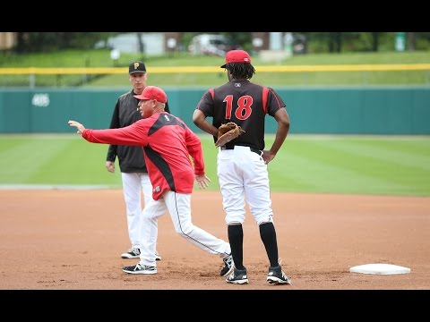 Josh Bell Defensive Work at First Base