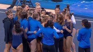 "UCLA women's gymnastics team lightens the mood, showcases dancing skills during ""Meet the Bruins"""