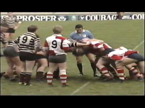 Rugby : Warwickshire Colts v Somerset County Cup Final 1988-1989