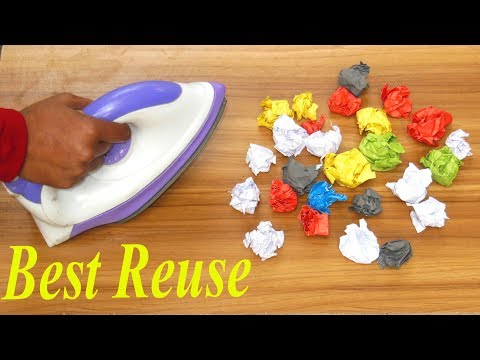 best out of waste crafts idea of recycling papers | Best Reuse Idea