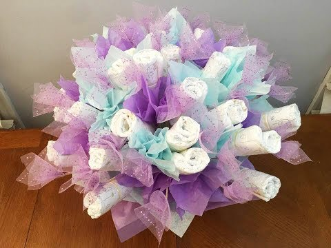 Baby Diaper Bouquet   Diaper Cake (Tutorial)