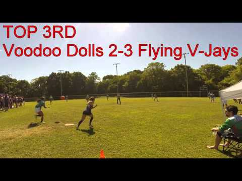 Voodoo Dolls vs Flying V-Jays - Pool Play - Women's Music City Kickball Open #MCKO2015