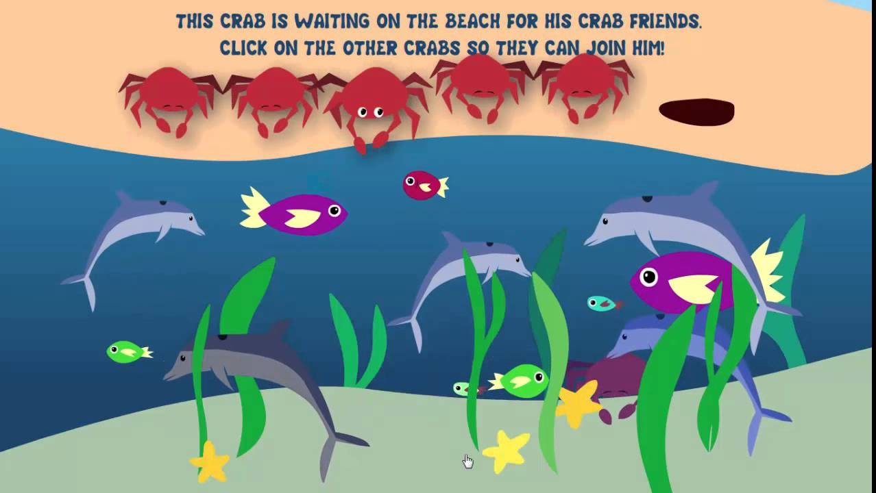 Cool Math Games For Kids: Learn about animal ocean find count