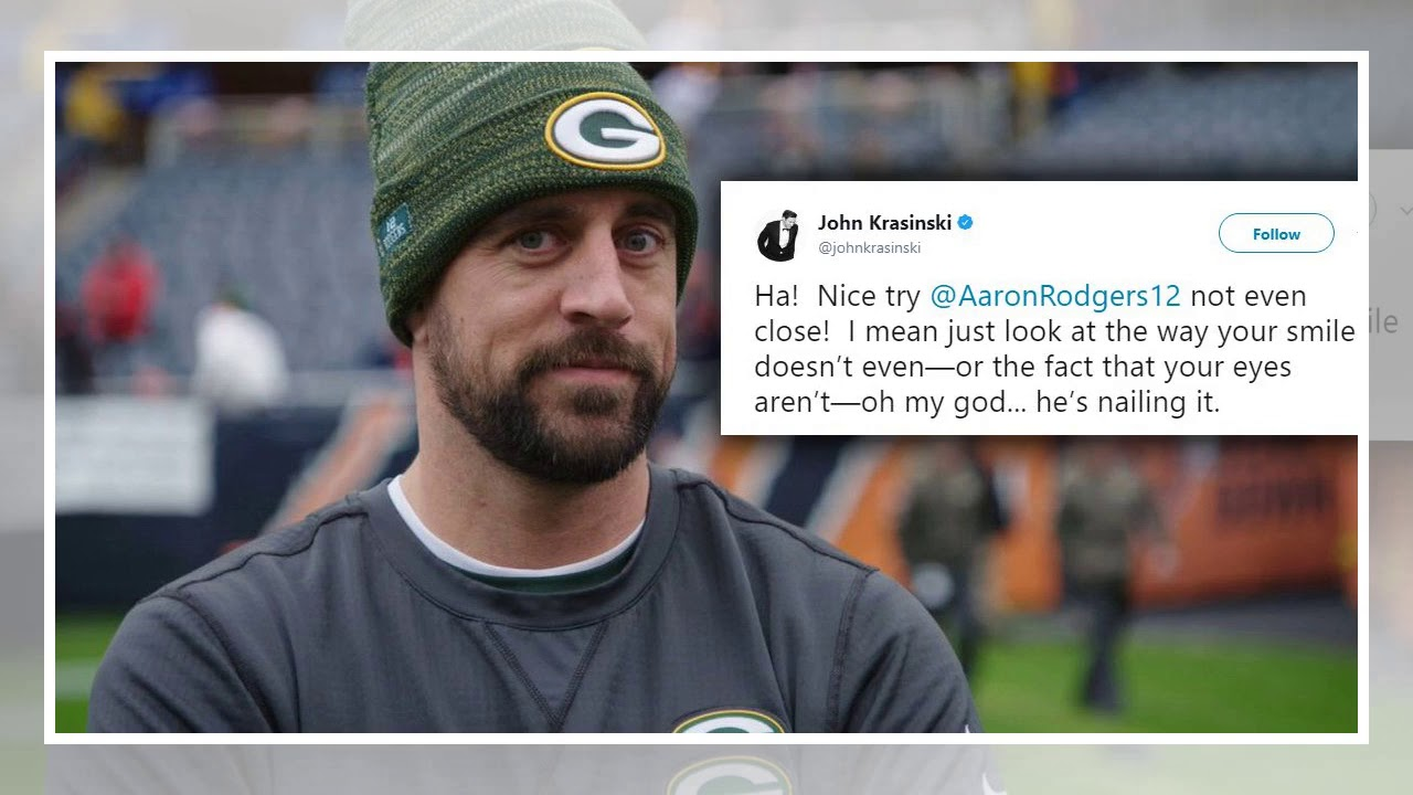 Aaron Rodgers Impression Of Jim From The Office Has Been Approved By John Krasinski Youtube