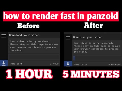 How to render Fast in Panzoid (Secret Technique)