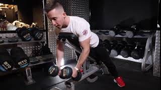 Incline bench Prone Dumbbell Rear dec fly