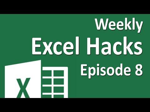Weekly Excel Hacks - Episode 08 - Toggle Formulas/alt+Enter/Crazy Comments