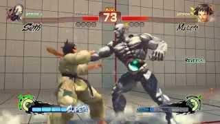 [ч. 08] Super Street Fighter IV - бой с кошкой :З (1080p)